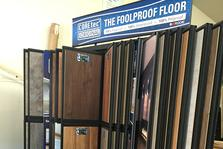 The Foolproof Floor display at Floorcoverings of Marin County