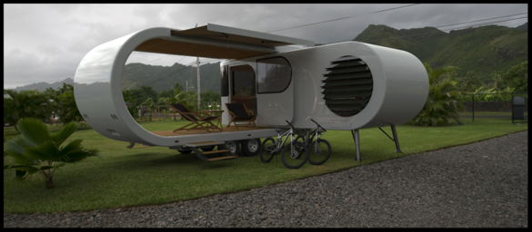 the romotow fold-out caravan