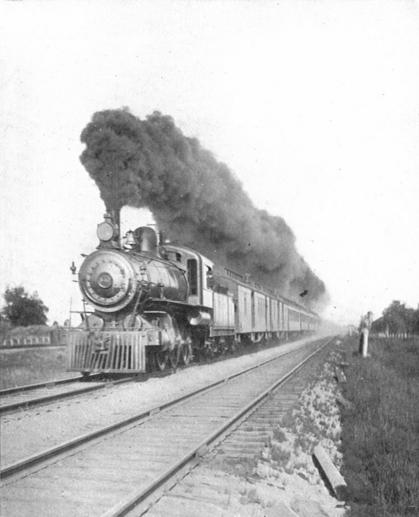 The Imperial Limited at full speed. Canadian Pacific Railway, 1907.