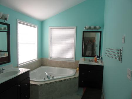 master bathroom painting in Berkley, MA.