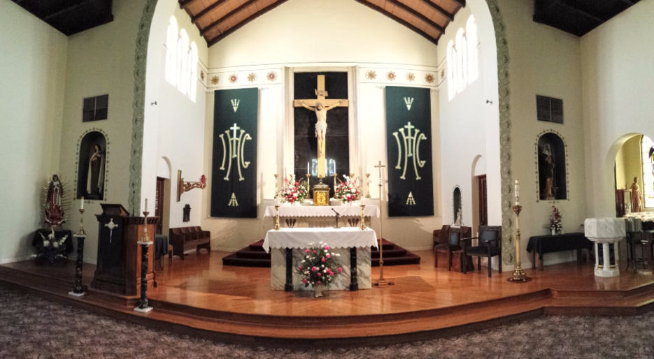 Altar at St. Brigid Catholic Church in Hanford