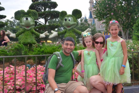 Katie, Nishant and Family Enjoy Walt Disney World