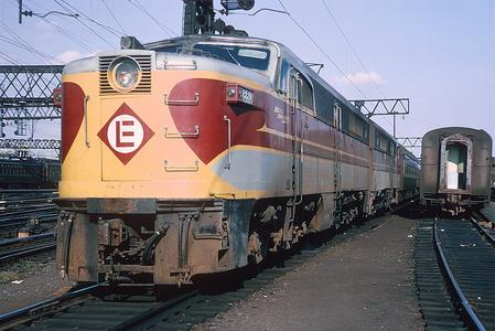 Erie Lackawanna No. 860 departing Hoboken with the Twilight, September 3, 1965. Photo by Roger Puta.