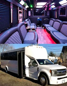 30 Passenger white Party Bus