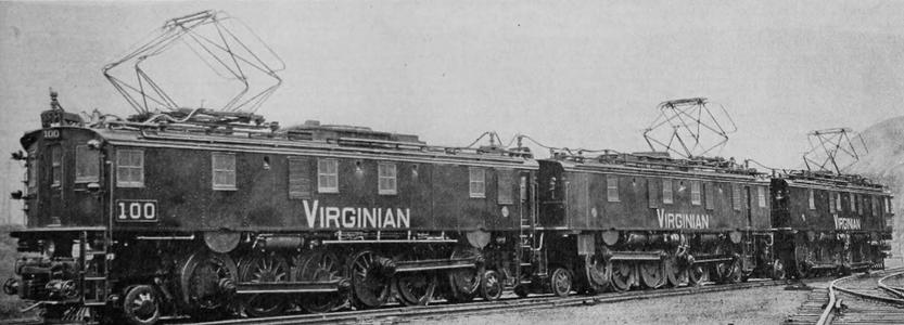 Builders photo of Virginian Railway EL-3A No. 100. December 31, 1924.