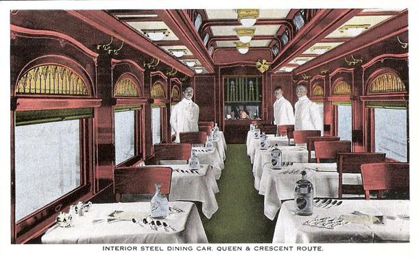 A Dining Car on the Queen and Crescent Route.