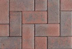 Unilock Concrete Hollandstone Paver In Rustic Red Color