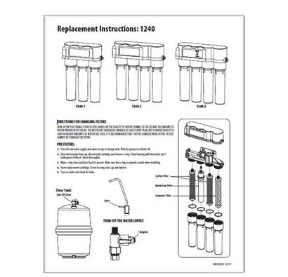 Replacement instructions 1240 ro