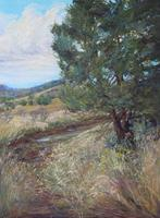 The Calm After the Storm pastel landscape by Lindy C Severns, Fort Davis TX