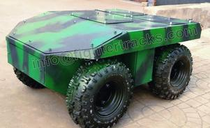 4 wheel drive robot chassis can also made as 6 wheel robot chassis
