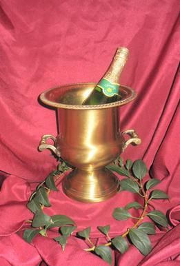 Vintage gold champagne bucket rentals for rent at Rent Your Event, LLC in Mint Hill, North Carolina, near Charlotte, North Carolina. Champagne bucket for your wedding or sweetheart table.