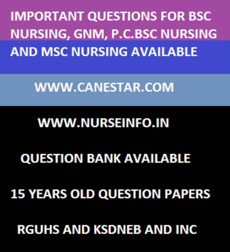 bsc fourth year nursing, 2012, questions, rguhs