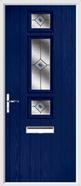 3 Square Strip Composite Door fusion glass