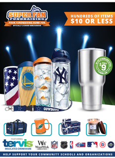 Superfan Tumbler Fundraiser Brochure