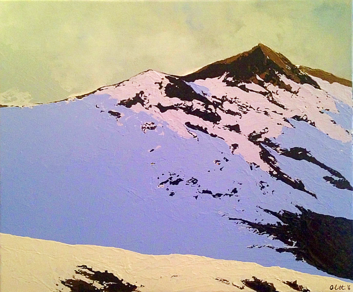 The Summit, original contemporary acrylic painting by Irish artist Orfhlaith Egan.