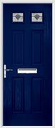 4 Panel 2 Square Composite Door monza glass