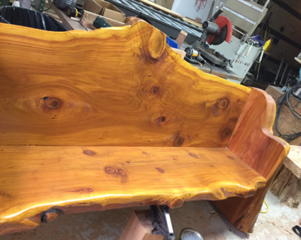 Wood used for live edge slab furniture for the King County WA, area