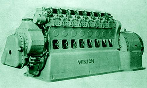 A Winton Diesel engine.