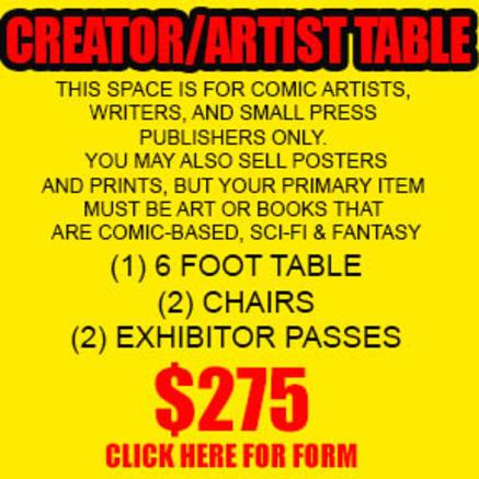 creator/artist table order form
