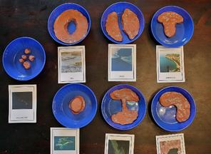 plasticine Montessori land and water forms