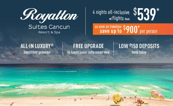 Cancun all inclusive deals 4 nights from $649pp