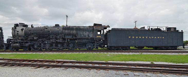 Pennsylvania Railroad 6755 and its tender at the Railroad Museum of Pennsylvania.