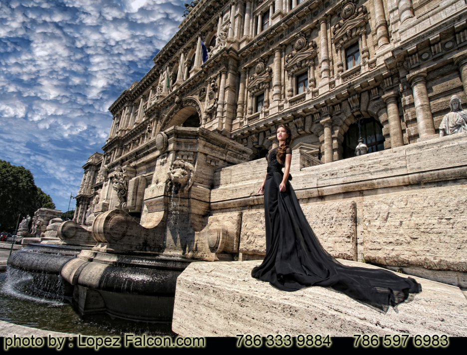 Rome quinceanera photography in Roma