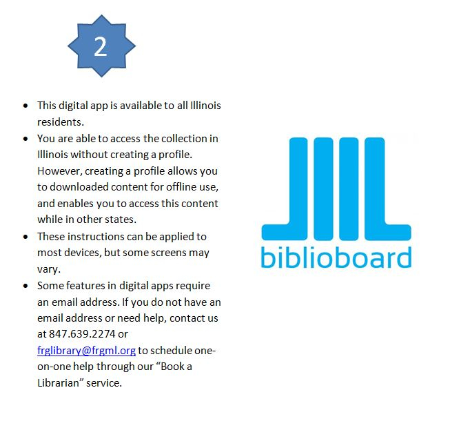 Biblioboard - Instructions For Digital Collections