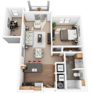 One Bedroom plus Den Floor plans on house plans with a lanai, house plans with a back view, house plans with a craft room, house plans with a sunroom, house plans with a vestibule, house plans with a library,