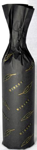 Black bottle wrapping printed gold