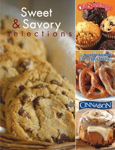 Sweet and Savory Selections Fundraiser Brochure