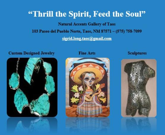 Subscribe to the Natural Accents Gallery of Taos Newsletter