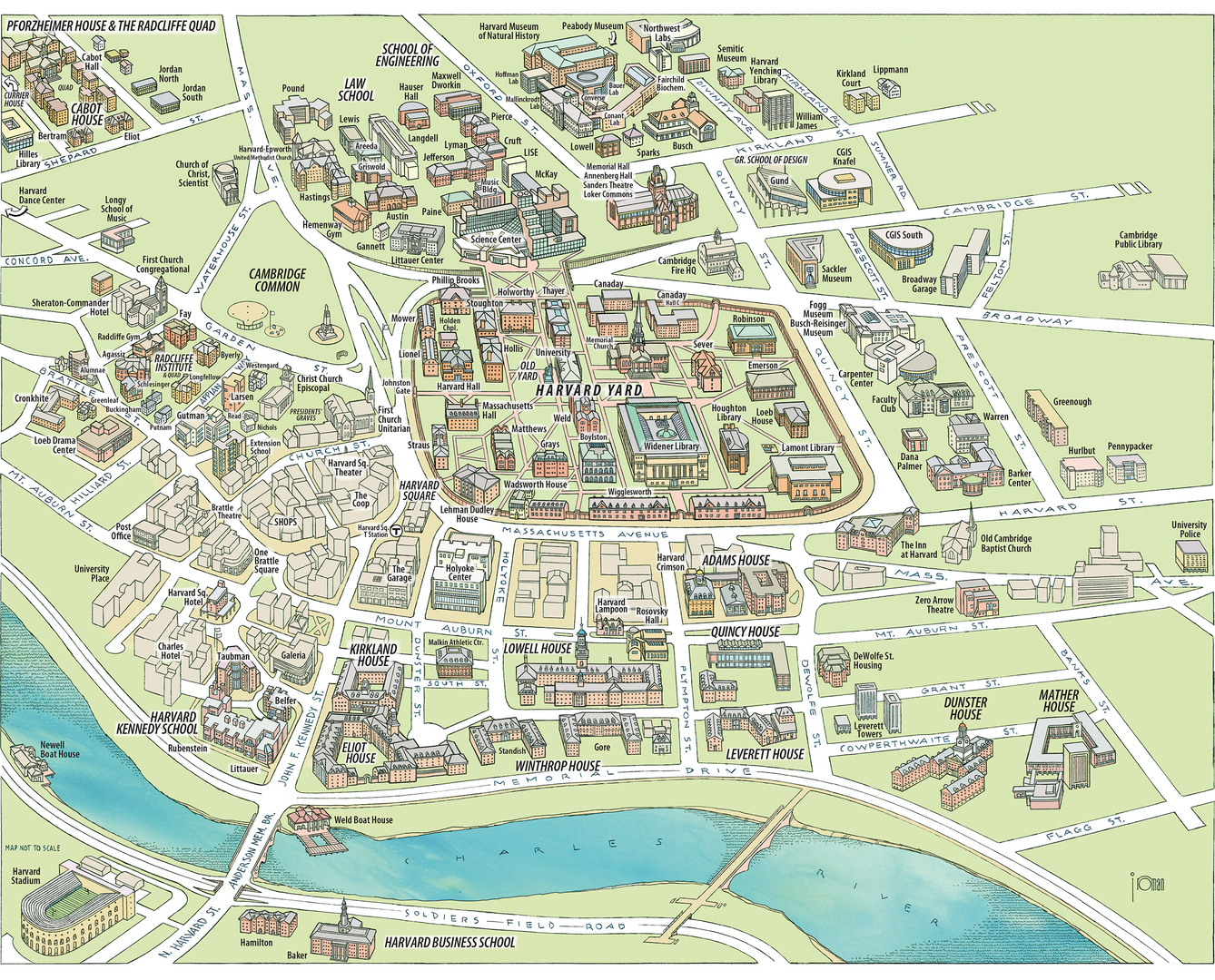 Boston University Campus Map Map And Directions College Of - Map of harvard university