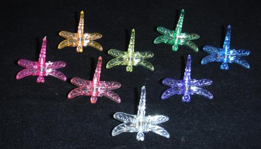large decorative dragonfly plant clips durable plastic sturdy nursery growers 5 colors small