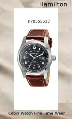 Watch Information Brand, Seller, or Collection Name Hamilton Model number H70555533 Part Number H70555533 Item Shape Round Dial window material type Synthetic sapphire Display Type analog-display Clasp Buckle Case material Stainless steel Case diameter 42 millimeters Case Thickness 1.1 millimeters Band Material Calfskin Band length Men's Standard Band width 21 millimeters Band Color Brown Dial color Black Bezel material Stainless steel Calendar Date Special features Luminous, measures-seconds Item weight 3.04 Ounces Movement Automatic Water resistant depth 100 Meters,hamilton watch
