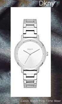 DKNY Women's 'The Modernist' Quartz Stainless Steel Casual Watch, Color:Silver-Toned (Model: NY2635)
