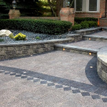 IL Campo® two color front entrance paver steps