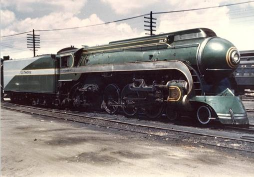 "The Southern's beautifully streamlined Alco ""Tennessean"", circa 1941."