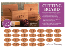La-Tee-Da Fundraiser Cutting Boards Brochure