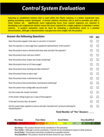 Control System Evaluation Form