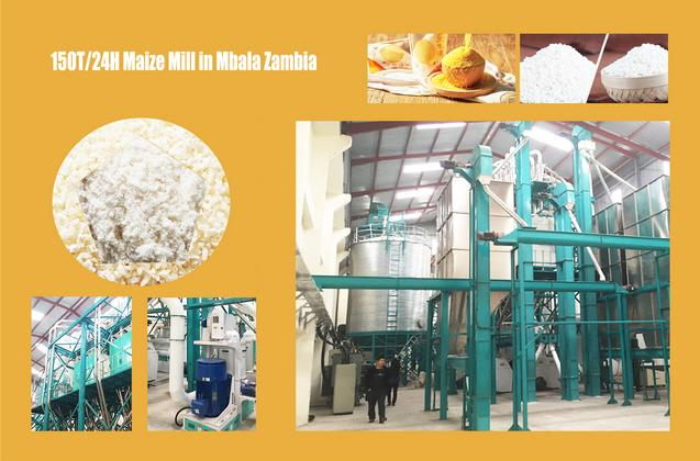 150ton maize milling machine running in Mbala Zambia for CMF milling group