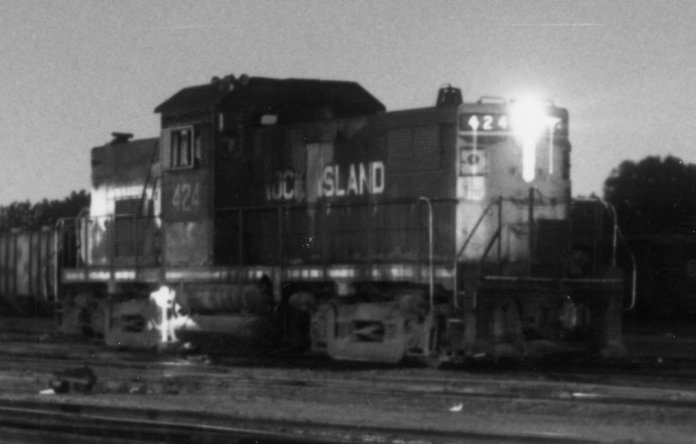 RI 424, Alco Century 415 Locomotive; photo taken at South Chicago Yard, Chicago Il, on 13 July 1978.