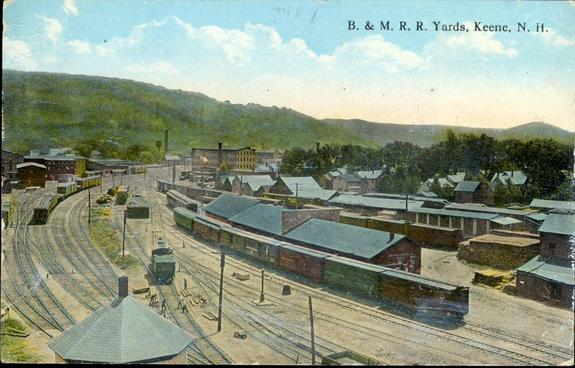 The B&M yard at Keene, New Hampshire, circa 1916.