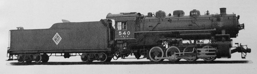 An 0-8-0 switcher built in 1937 for the Chicago and Illinois Midland Railway by Lima Locomotive Works, 18 June, 1937.