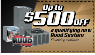 Get 500 dollars off any qualifying Ruud system