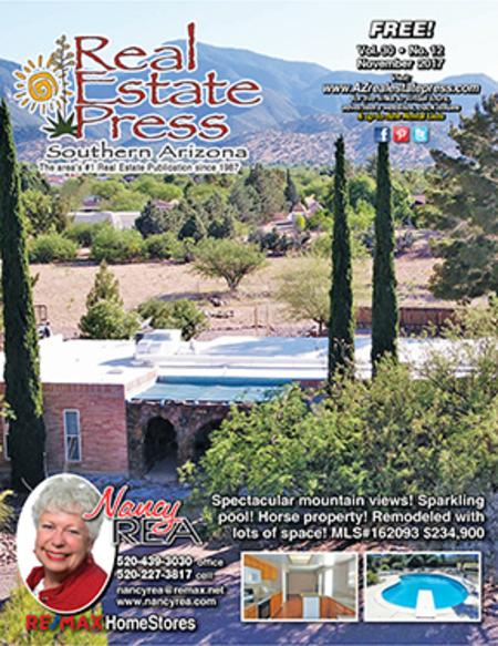 Real Estate Press, Southern Arizona, Vol. 30, No. 12, November 2017