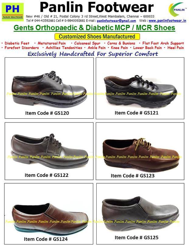 Diabetic Footwear India, MCR Chappals, MCR Sandals Customizated