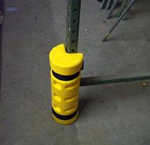 Rack Sentry Corner Guards fits on the end of the racks and protects the corner.