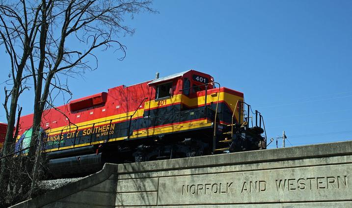 Kansas City Southern de Mexico No. 401, an EMD GPTEB-C Slug.