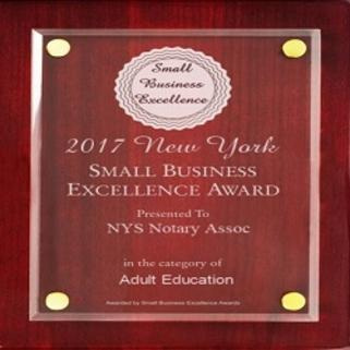 New York Best Notary Public Classes Award